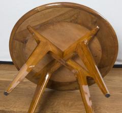 Gio Ponti Mid Century Low Circular Side Table Gio Ponti Style - 1184486