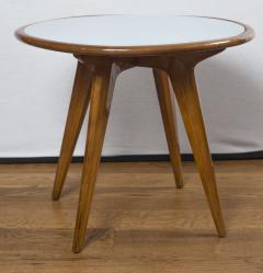 Gio Ponti Mid Century Low Circular Side Table Gio Ponti Style - 1184487