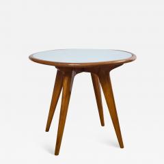 Gio Ponti Mid Century Low Circular Side Table Gio Ponti Style - 1184859