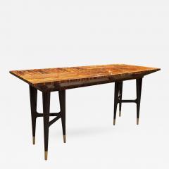 Gio Ponti Mid Century Macassar Ebony Writing Desk in the Manner of Gio Ponti - 367749