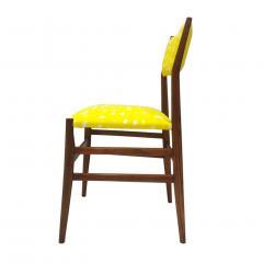 Gio Ponti Mid Century Modern Gio Ponti Set of Four Leggera Ash Wood Italian Chairs 1951 - 1044876