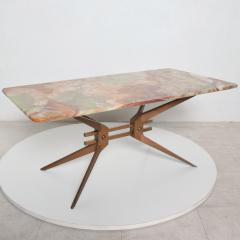 Gio Ponti Mid Century Modern Italian Coffee Table with Marble Top After Gio Ponti - 1168872