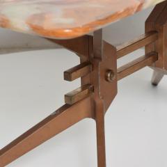 Gio Ponti Mid Century Modern Italian Coffee Table with Marble Top After Gio Ponti - 1168873