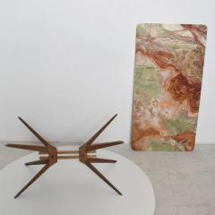 Gio Ponti Mid Century Modern Italian Coffee Table with Marble Top After Gio Ponti - 1168874