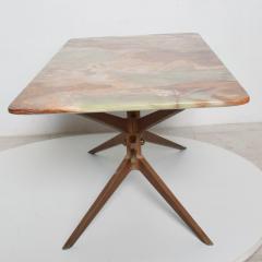 Gio Ponti Mid Century Modern Italian Coffee Table with Marble Top After Gio Ponti - 1168875
