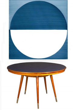 Gio Ponti Midcentury Blue Top Dining or Center Table in the style of Gio Ponti - 1527696