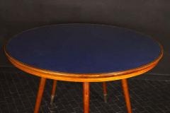 Gio Ponti Midcentury Blue Top Dining or Center Table in the style of Gio Ponti - 1527698