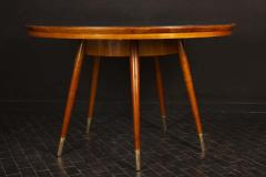 Gio Ponti Midcentury Blue Top Dining or Center Table in the style of Gio Ponti - 1527699