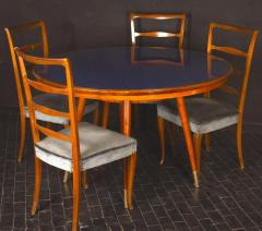 Gio Ponti Midcentury Blue Top Dining or Center Table in the style of Gio Ponti - 1527701