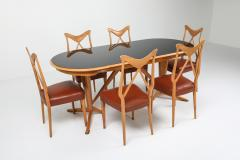 Gio Ponti Oak Dining Table in the style of Gio Ponti 1970s - 1237879