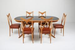 Gio Ponti Oak Leather Dining Chairs in the style of Ponti 1970s - 1248812