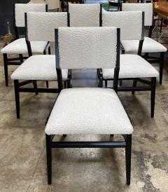 Gio Ponti Pair of 6 Dining Chairs Attributed to Gio Ponti Italy 1960 - 1642377