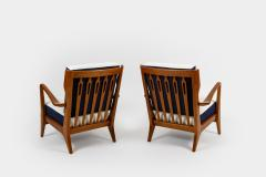 Gio Ponti Pair of Armchairs Model 516 by Gio Ponti for Cassina - 770818