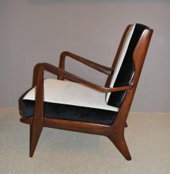 Gio Ponti Pair Of Gio Ponti Walnut Lounge Chairs Model 516   144226
