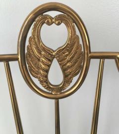 Gio Ponti Pair of High Back Italian Brass Chairs - 597145