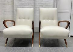 Gio Ponti Pair of Italian Lounge Chairs Style of Gio Ponti - 2068503