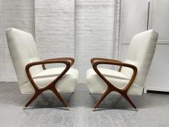 Gio Ponti Pair of Italian Lounge Chairs Style of Gio Ponti - 2068504