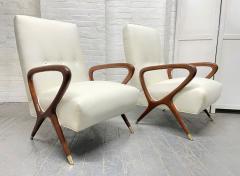 Gio Ponti Pair of Italian Lounge Chairs Style of Gio Ponti - 2068505