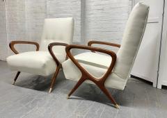 Gio Ponti Pair of Italian Lounge Chairs Style of Gio Ponti - 2068506