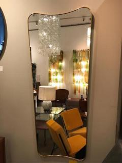 Gio Ponti Pair of Large Scaled Mid Century Wall Mirrors in Brass in the style of Gio Ponti - 396980