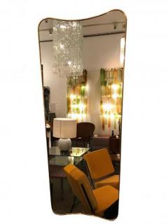 Gio Ponti Pair of Large Scaled Mid Century Wall Mirrors in Brass in the style of Gio Ponti - 396981