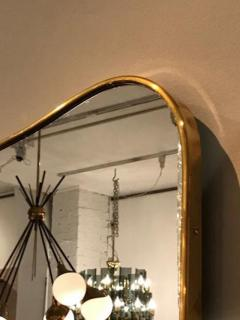 Gio Ponti Pair of Large Scaled Mid Century Wall Mirrors in Brass in the style of Gio Ponti - 396982