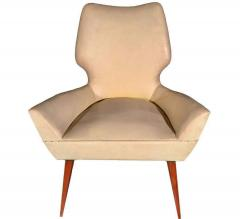 Gio Ponti Pair of Mid Century Modern Gio Ponti Style Chairs 1950s - 1445737