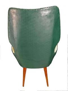 Gio Ponti Pair of Mid Century Modern Gio Ponti Style Chairs 1950s - 1445738