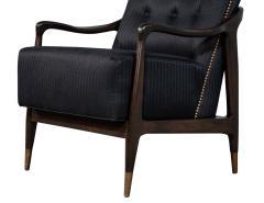 Gio Ponti Pair of Mid Century Modern Gio Ponti Style Club Chairs - 1559737