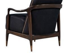 Gio Ponti Pair of Mid Century Modern Gio Ponti Style Club Chairs - 1559741