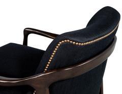 Gio Ponti Pair of Mid Century Modern Gio Ponti Style Club Chairs - 1559742