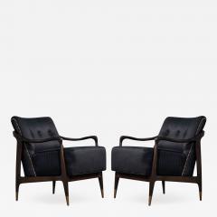 Gio Ponti Pair of Mid Century Modern Gio Ponti Style Club Chairs - 1561372