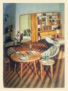 Gio Ponti Pair of Mid Century Modern cherry wood tables by Gio Ponti - 2074932