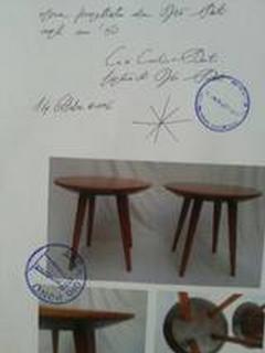 Gio Ponti Pair of Mid Century Modern cherry wood tables by Gio Ponti - 2074933