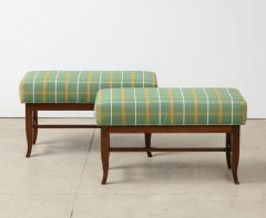 Gio Ponti Pair of Upholstered Benches by Gio Ponti - 1465463