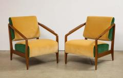 Gio Ponti Rare Pair of Lounge Chairs by Gio Ponti - 1252413