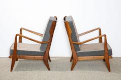 Gio Ponti Rare Pair of Open Arm Chairs by Gio Ponti for Cassina - 945211