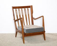 Gio Ponti Rare Pair of Open Arm Chairs by Gio Ponti for Cassina - 945213