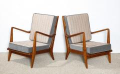 Gio Ponti Rare Pair of Open Arm Chairs by Gio Ponti for Cassina - 945214