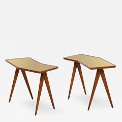 Gio Ponti Rare Pair of Side Tables by Gio Ponti Pietro Chiesa - 1223557