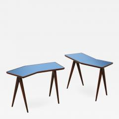 Gio Ponti Rare Pair of Side Tables by Gio Ponti Pietro Chiesa - 1547152
