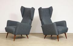 Gio Ponti Rare pair of Lounge Chairs by Gio Ponti - 1007473