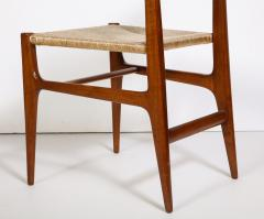 Gio Ponti Set of 8 Side Chairs by Gio Ponti for M Singer Sons - 1414806