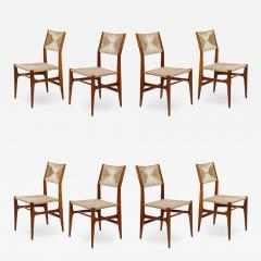 Gio Ponti Set of 8 Side Chairs by Gio Ponti for M Singer Sons - 1414888