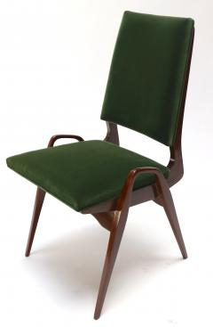Bon Gio Ponti Set Of Custom Gio Ponti Style Dining Chairs In Walnut   232447