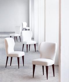 Gio Ponti Set of Five Gio Ponti Dining Chairs for Casa E Giardino Italy 1942 - 444515