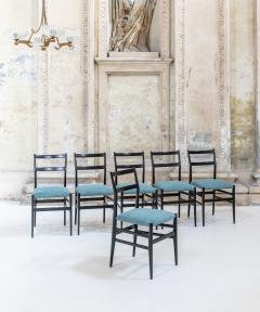 Gio Ponti Set of Six Leggera Chairs by Gio Ponti - 1451084