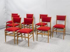 Gio Ponti Set of eight Superleggera chairs - 1830906