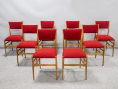 Gio Ponti Set of eight Superleggera chairs - 1830907