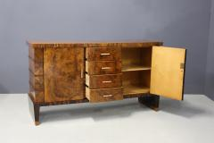 Gio Ponti Sideboard MidCentury in Walnut briar and brass attributed to Gio Ponti 1950s - 1267857
